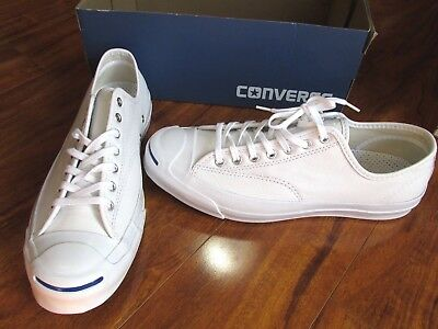06f5d8e7106 NEW Converse Jack Purcell Signature Ox Shoes MEN 13 White Leather 149909C   125