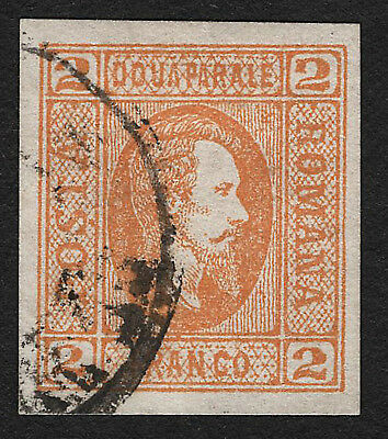 OPC 1865 Romania Sc#26 Laid Paper Used on piece Signed 33298