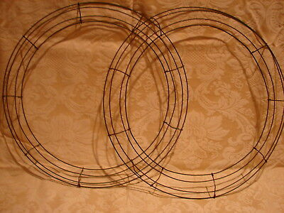 "Lot of 2 Heavy Duty WIRE WREATH U FRAMES 18"" lot #6"