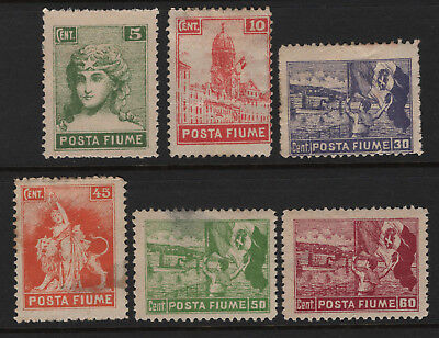 OPC 1919 Posta Fiume Lot of 6 MH Mixed Condition