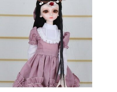 A12 1/4 Girl Super Dollfie Normal Skin Coordinate Model Fullset BJD Doll O