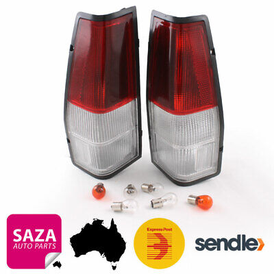 Pair of Tail Lights LH & RH Ford Falcon XD XE XF XG XH Ute Van 1979-98 Red-Clear