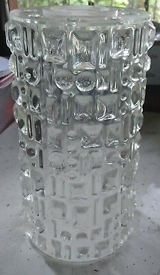 RETRO VINTAGE CLEAR PLASTIC LIGHT SHADE - 1960's era - FUNKY FANTASTIC PLASTIC!