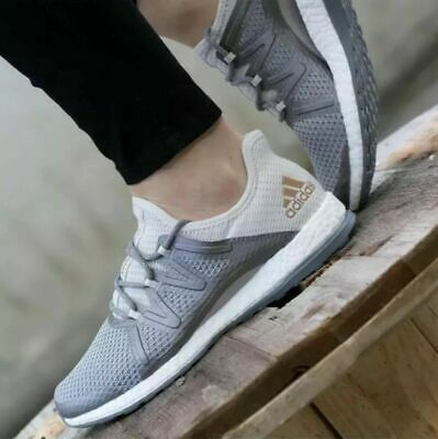 02790557b Adidas Performance Women Pure boost Xpose Running Shoe BA8271 Grey Gold  Authenti