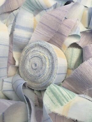 Rag Rug Strips PreCut Fabric Strips Rugmaking Yarn Amish Knot Pastel Color 60 yd