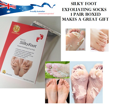 ONE  PAIR Silky Baby Foot Exfoliation Milky Feet Peel Mask Remove Skin Foot Mask