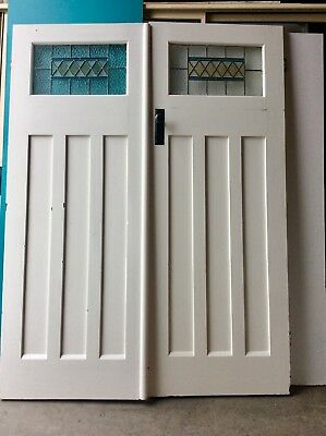 Leadlight  Set Double Internal Doors