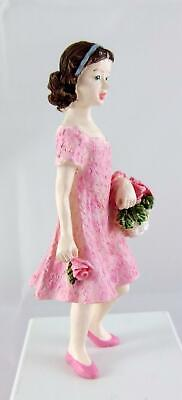 3c53597a1987 Melody Jane Dolls House Miniature Resin People Wedding Flower Girl  Bridesmaid