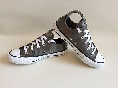 quality design 71a0b 0e862 CONVERSE Chuck Taylor All Star Uk Size 4 Shiny Grey Metallic Unisex Ex Con