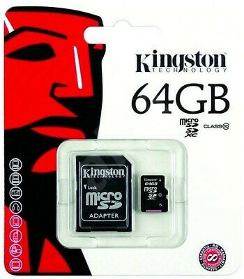 64GB Micro-SD Speicherkarte KINGSTON MicroSD Karte Class 10 SDHC UHS-I C10