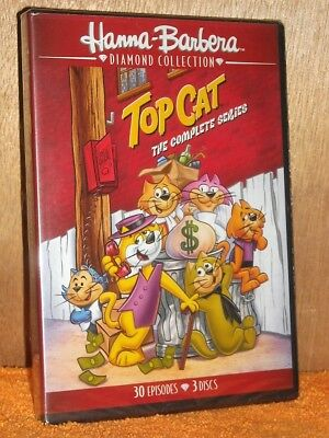 Top Cat - The Complete Series (DVD, 2017, 3-Disc Set) NEW HANNA BARBERA animated