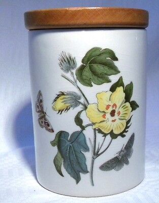 "Vintage Portmeirion Botanic Garden 4.1/2"" Storage Jar  Barbados Cotton Flower"