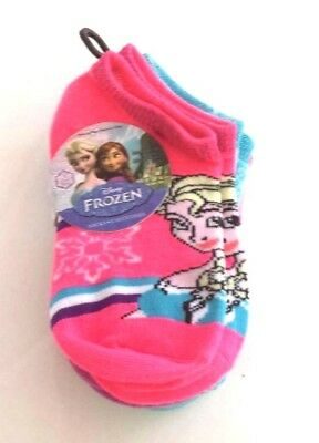 Disney's girls Frozen 5 pair socks size 4-6 nwt