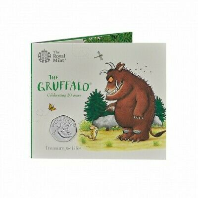 2019 The Gruffalo 50p Coin Brilliant Uncirculated Royal Mint Pack Sealed