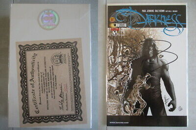Darkness #1 DF Blue Foil Signed by Paul Jenkins Ltd. to 499 With COA