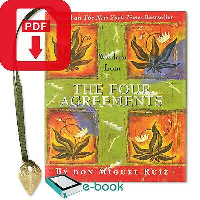 NY Times Bestseller The Four Agreements 4 Paperback by Miguel Ruiz B Happy P-D-F