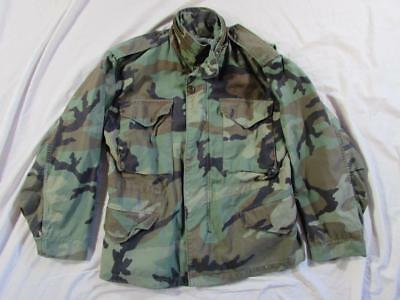 711f888143ea7 Vtg 80s US Army Camouflage M-65 Field Jacket Coat Cold Weather Small-Short