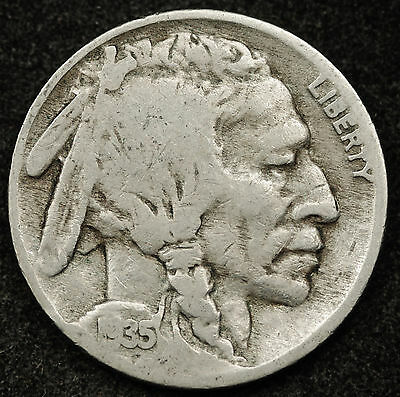 1935 Buffalo Nickel.  Double Die Reverse.  G.-V.G.  94096
