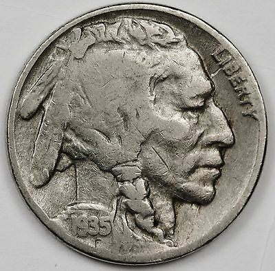 1935 Buffalo Nickel.  Error.  Well endowed Buffalo.  106647