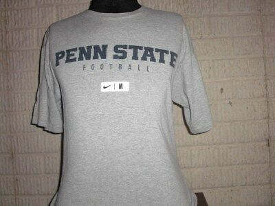 96ac1a59a2a6 PENN STATE FOOTBALL Nike Dri Fit Long Sleeve T Shirt Mens LARGE L ...