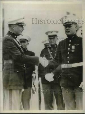 1930 Press Photo Major Rosaux Rowell & Master Sgt Albert Munsch