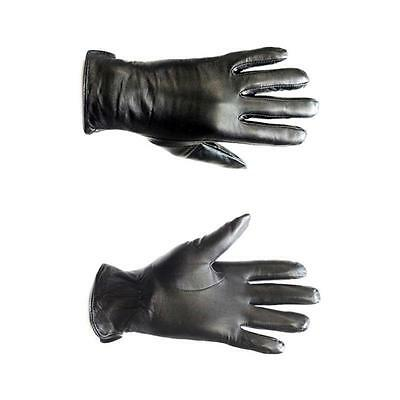 Genuine Leather Black Leather Gloves Women gloves XS- Plus Size