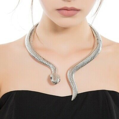 collier ras de cou serpent