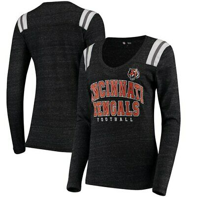 Cincinnati Bengals 5th   Ocean by New Era Women s Tri-Blend Long Sleeve V- 6d46065e1