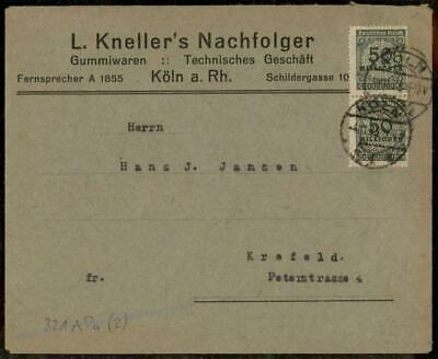 Germany High Inflation Cover Nov 4 1923 Mi 321AP Last Day Rate 72338