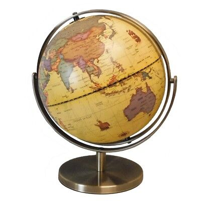 Antique Style World Beige Globe Atlas 228mm New