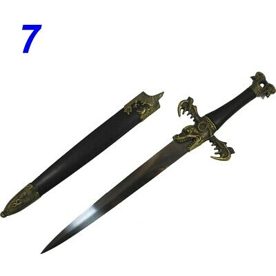 Final Fantasy Medieval Sword with Dragon Handle Miniature New (A607)