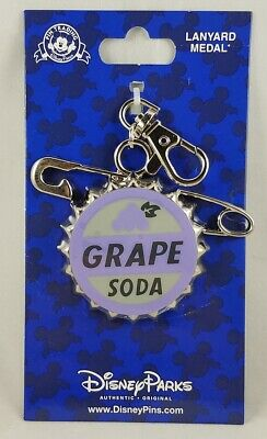 Disney Parks Grape Soda Cap UP Pixar Lanyard Medal Pin Trading - NEW