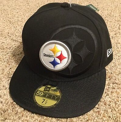 New Era NFL Pittsburgh Steelers On Field 59FIFTY 5950 Fitted 7 1 2 CAP HAT 97a544a44104