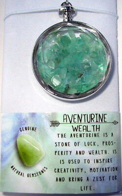 Suncatcher With Adventurine Crystals For Luck, Prosperity & Wealth Gift Boxed