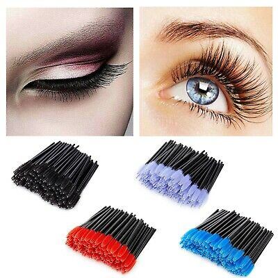 100 PCS Disposable Eyelash Tools Mascara Wands Lash Brushes Brush Extension AU