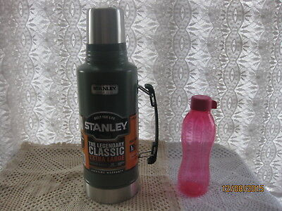1.9L  BLACK STANLEY DRINKS FLASK STAINLESS STEEL NEW .9 LITRE THERMOS+ Gift~£8