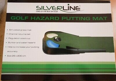 Silverline Golf Putting Mat / Putter Matte NEU