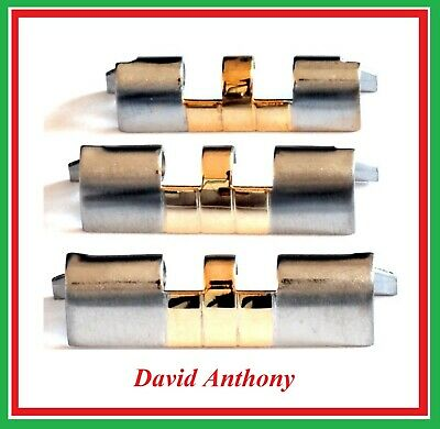JUBILEE WATCH BRACELET STRAIGHT ENDS (2) Gold Plt Stainless Steel 18mm 20mm 22mm