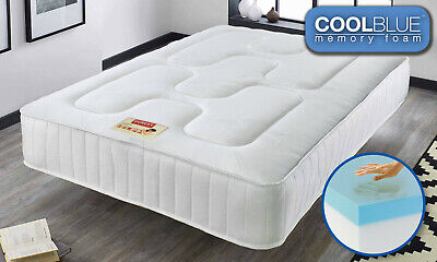 Touch Cool Blue Memory Foam Mattress - Available in 3ft, 4ft, 4ft6, 5ft