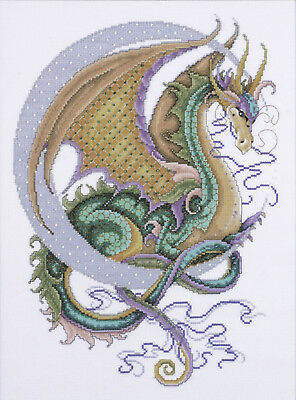 Cross Stitch Kit ~ Design Works Mythical Green & Gold Celestial Dragon #DW2717