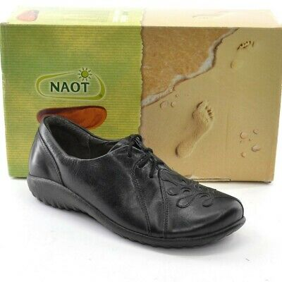a2d9c521ccc1 NAOT Hui Ladies OXFORDS 36   5 Black Leather Lace Up Shoes Israel New in Box