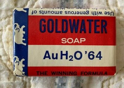 Vintage AuH2O 1964 Barry Goldwater Political Campaign Soap Elephant Republican
