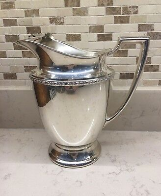 Vintage Silver Plate WM Rogers Water or Beverage Pitcher