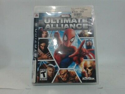 MARVEL ULTIMATE ALLIANCE Playstation 3 PS3 Complete in Box w/ Manual CIB Accepta