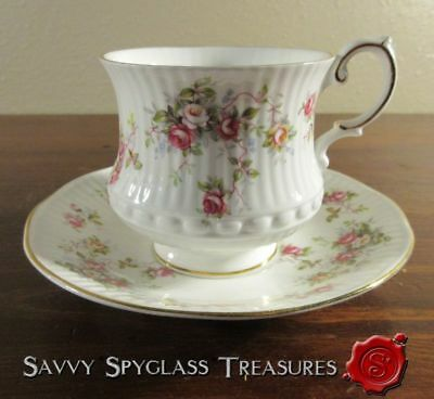 Queen's Rosina China Rosamund Roses Cup and Saucer Set