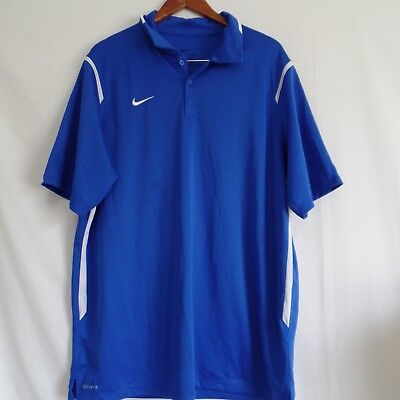 af1a8ccb5 NIKE GAME DAY Polo Mens Dri-Fit Collared Golf Football XL Short ...