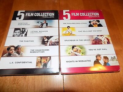 BEST OF WARNER BROS 10 Film Collection Thrillers Romances His Her 2 DVD SETS NEW