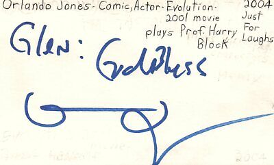 Orlando Jones Actor Comedian Evolution Movie Autographed Signed Index Card Movies