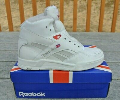 f1fe2b22843 Vintage NWB Men s Reebok BB 4600 Ultra Hi Top White Gray Red Baskeball Shoes