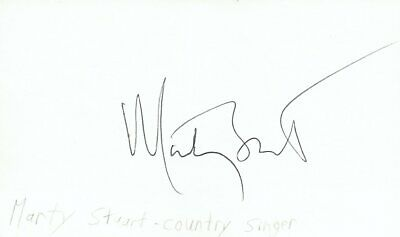 Marty Stuart Singer Country Music Autographed Signed Index Card